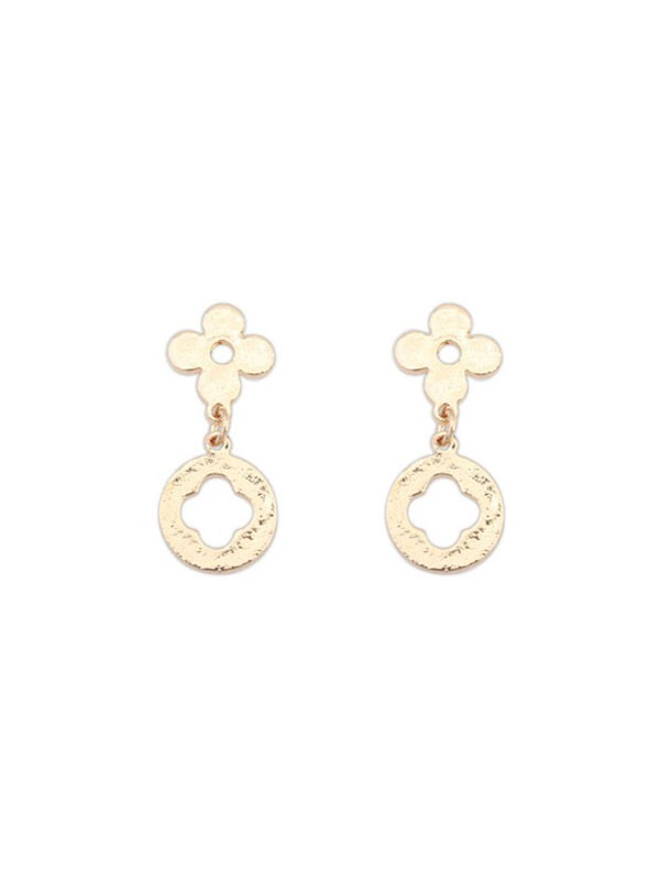 Occident Simple All-match Leaf clover Hot Sale Earrings