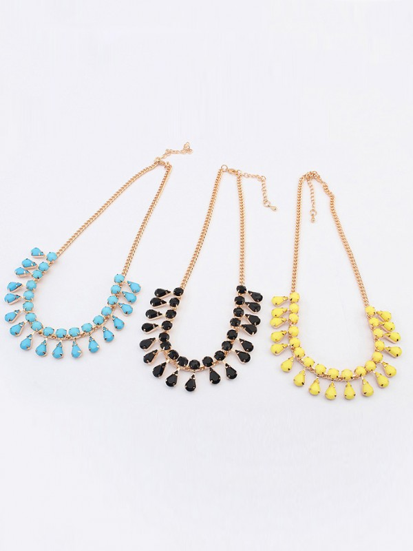 Occident all-match Water drop Temperament Hot Sale Necklace