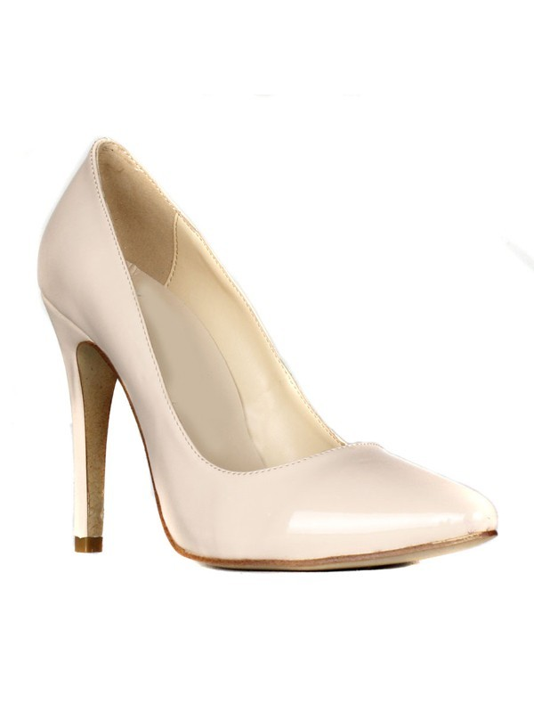 Women's Patent Leather Stiletto Heel Closed Toe High Heels
